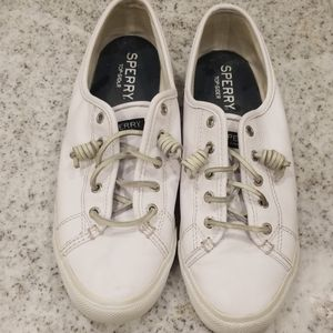 White Leather Sperry Top Siders